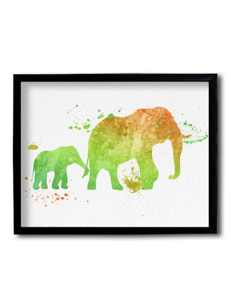 Elephant Painting Framed Art