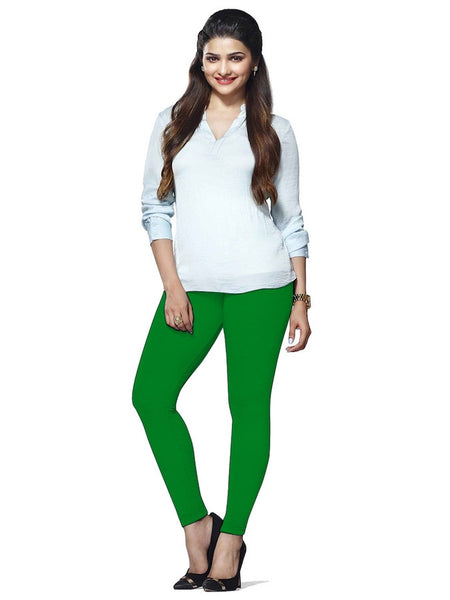 Shamrock Cotton Lycra Leggings - PurpleTulsi.com