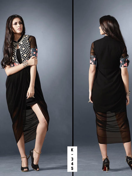 Midnight Black Dress - PurpleTulsi.com  - 1