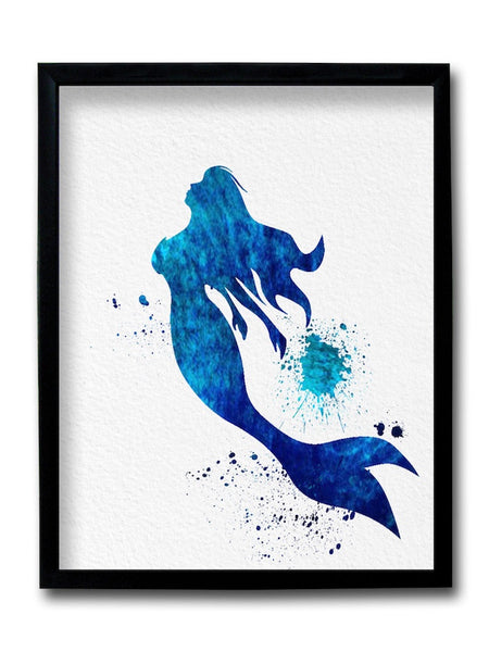 Mermaid Painting Framed Art