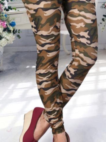 Army Print Lycra Leggings