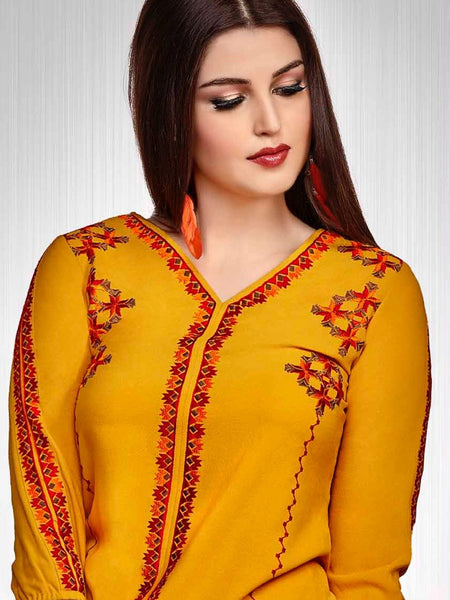 Fire Yellow Fashion Top - PurpleTulsi.com  - 1
