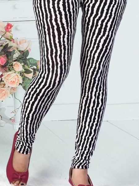 Striped Lycra Leggings