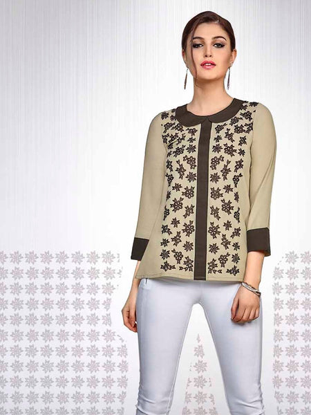 Light Olive Green Fashion Top - PurpleTulsi.com  - 1