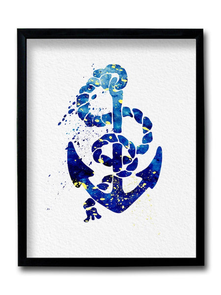 Anchor Painting Framed Art