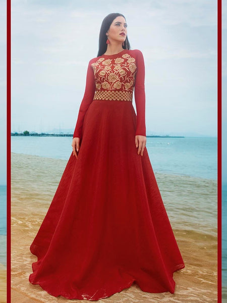 Wedding Red Silk Dress