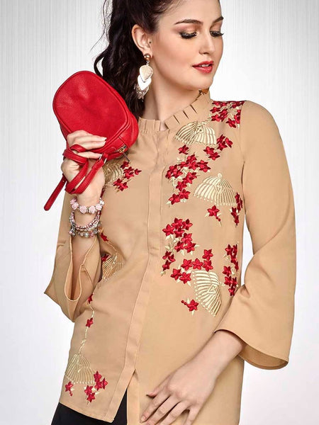 Fallow Brown Fashion Top - PurpleTulsi.com  - 1