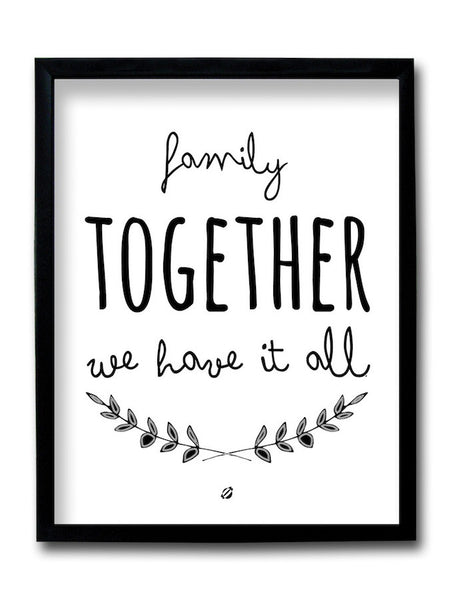 Family Together Framed Art