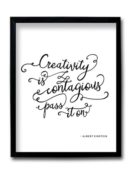 Creativity is Contagious Framed Art