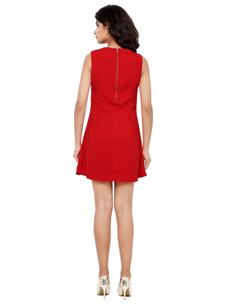 Cherry Red Fashion Dress