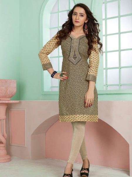 Exotic Design Cotton Kurti With Embroidery