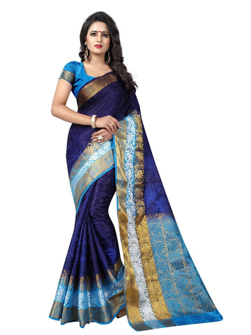 Beautiful Purple Color Printed Tussar Silk Saree