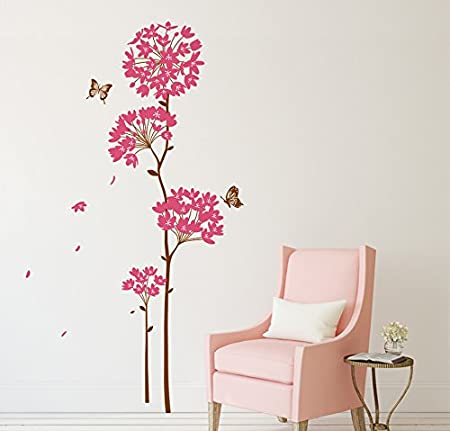 Attractive Wall Stickers Flowers Dandelion