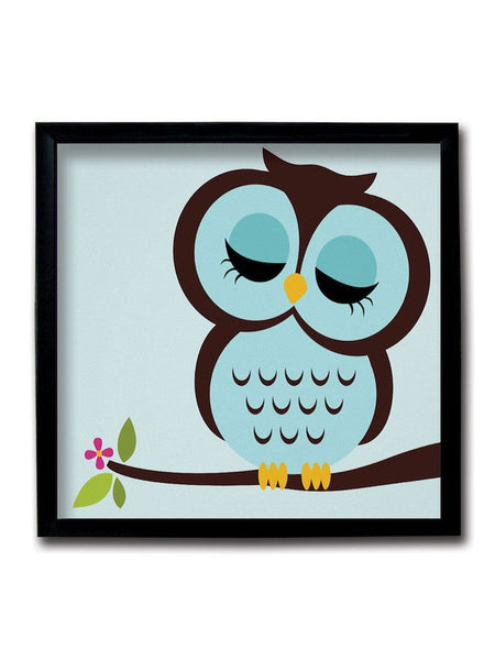 Blue Owl Framed Art