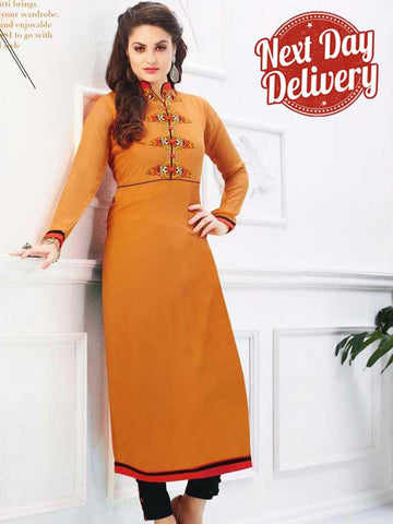 California Orange Georgette Kurti
