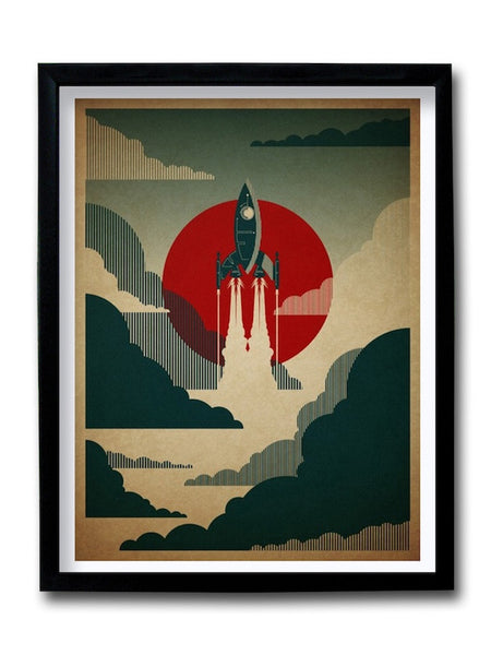 Rocketship Framed Art