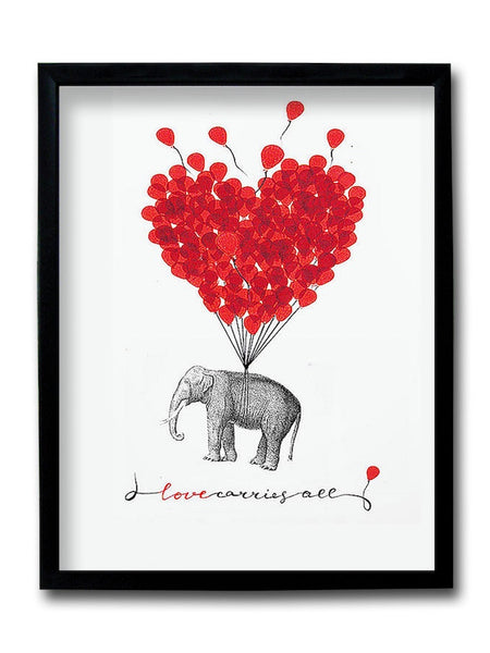 Love Carries All Framed Art