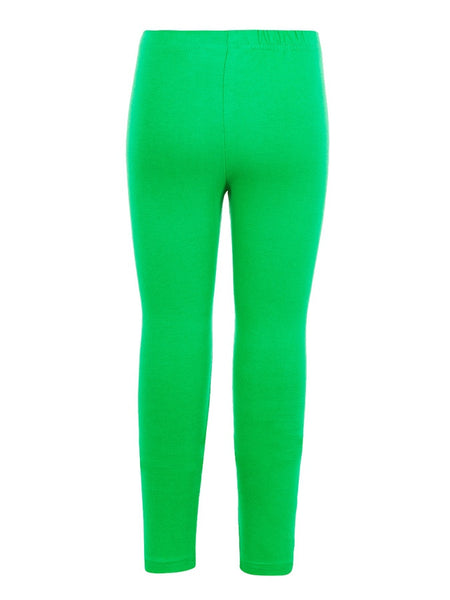 Kelly Green Cotton Girls Leggings