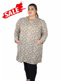 Light Grey Plus Size Kurti Dress