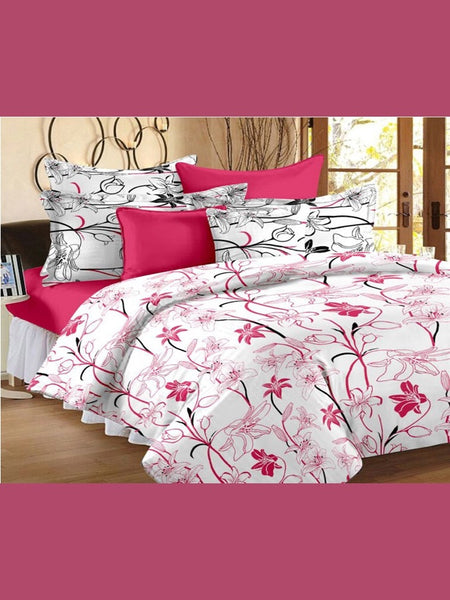 White and Pink Bedsheet