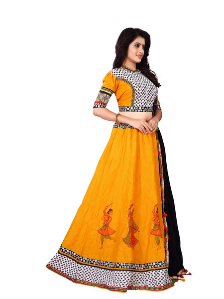 Garba Special Yellow Color Lehenga Choli