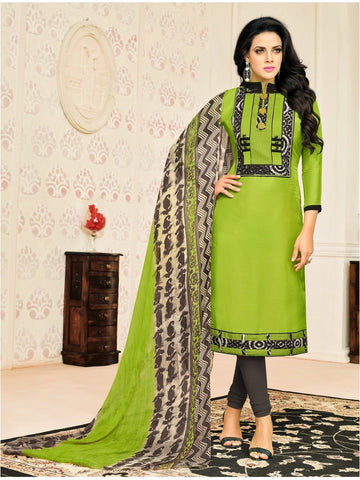 New Launch  Mehendi Straight Cut Suit