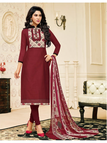 New Launch  Maroon Straight Cut Suit