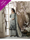 Pakistani Designer Partywear grey Color printed Straight Cut Suit