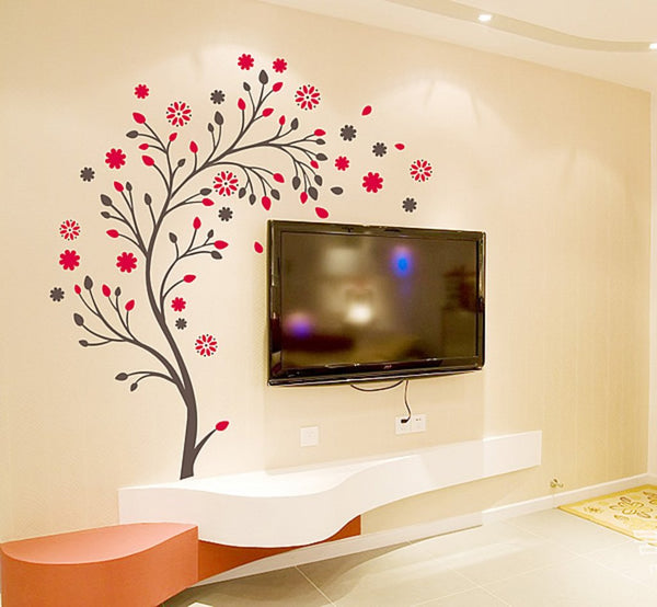 Attractive Wall Stickers Magic Tree with Flowers