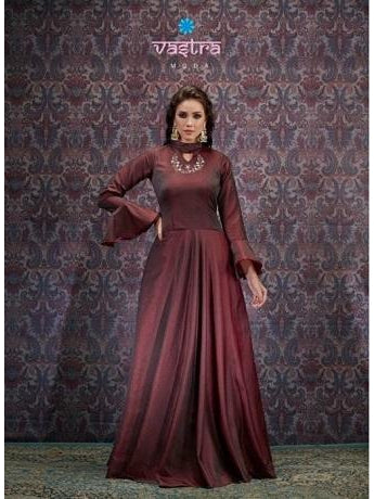 Beautiful and Designer Maroon Color Gown
