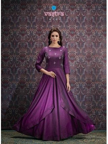 Beautiful and Designer Purple Color Gown