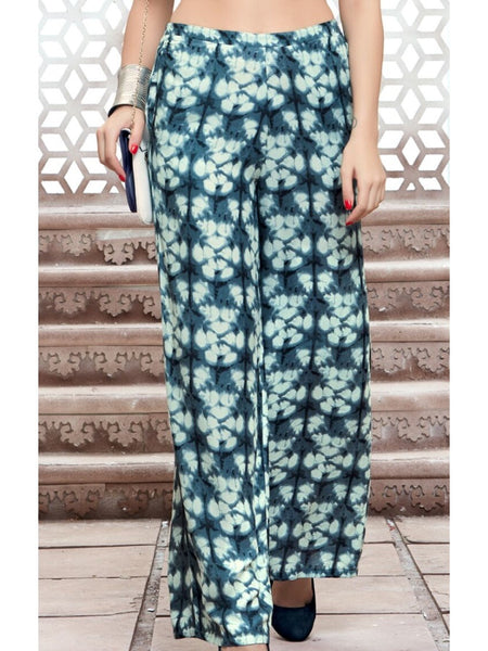 Exotic Shades of Green Multicolour Palazzo Pant - PurpleTulsi.com