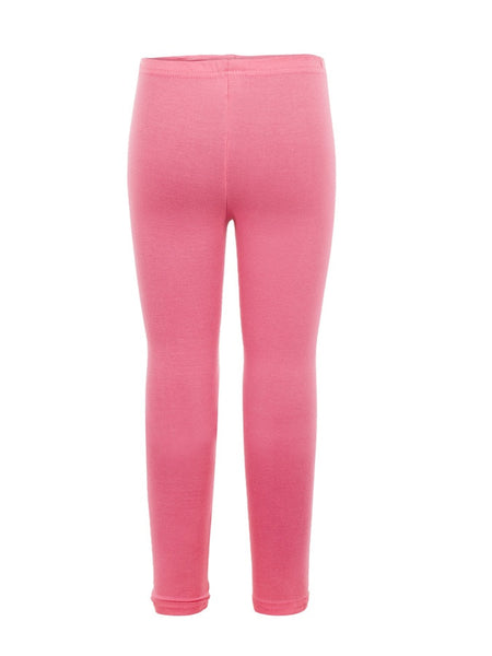 Coral Pink Cotton Girls Leggings