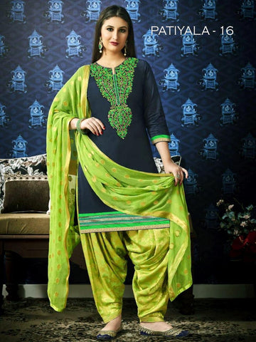 Beautiful & Designer Navy Blue Color Patiala Suits