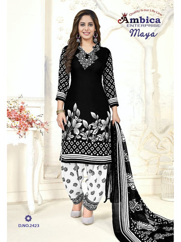 Beautiful & Designer Black Color Patiala Suits