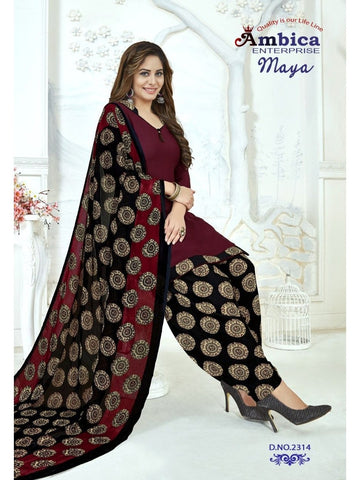 Beautiful & Designer Maroon Color Patiala Suits
