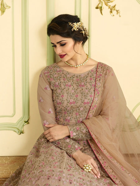 Beautiful Party Wear Embroidered and Diamond work Anarkali Suit