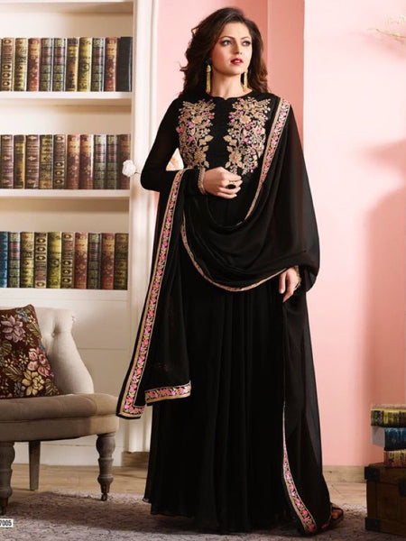 Rich Black Anarkali Suit