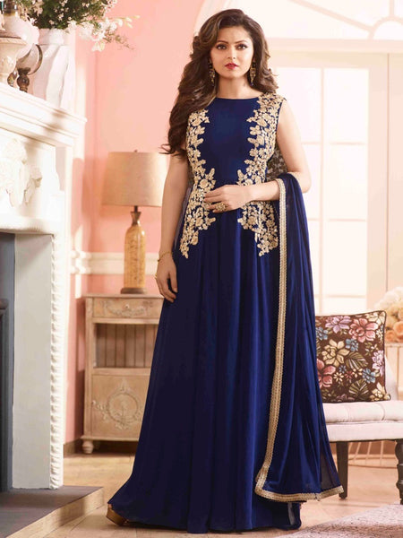 Indigo Blue Anarkali Suit