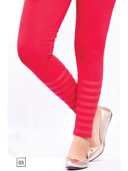 Red Designer Leggings - PurpleTulsi.com