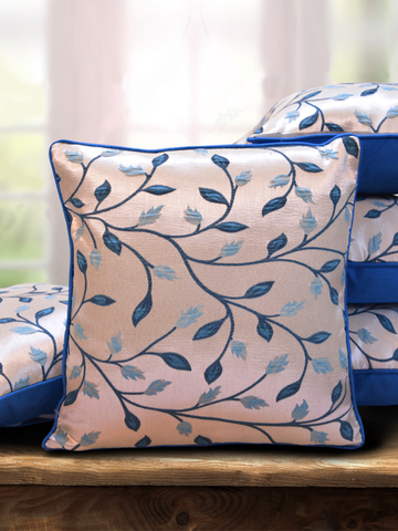 Beige and Blue Classic Cushion Cover
