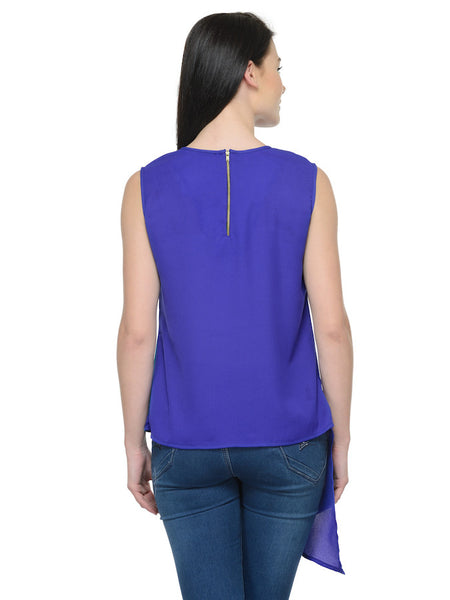 Purple and Green Chic Top