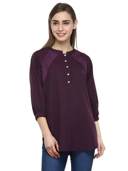 Plum Stylish Top