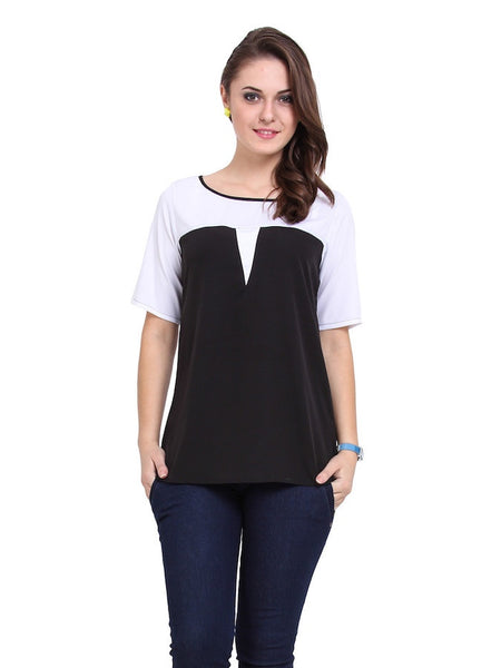 Black and White Stylish Top