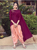 Designer Magenta Color Indo Western Kurti Top Dress with Bottom