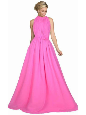 Trendy Pink Color Long Floor Length Gown