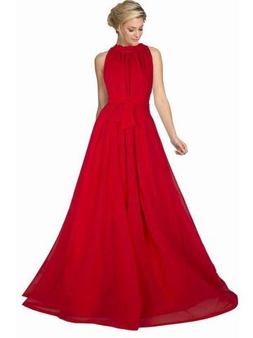 Trendy Red Color Long Floor Length Gown