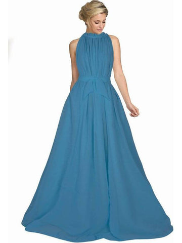Trendy Sky Blue Color Long Floor Length Gown