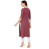 Multi Color Rayon Woven Straight Cut Kurti