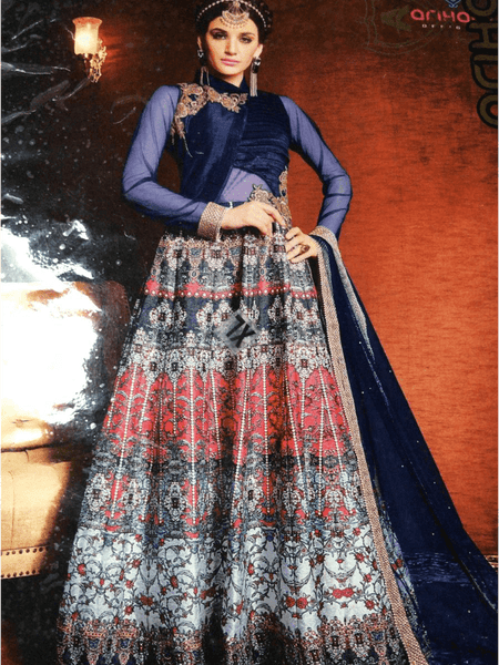 Blue Anarkali Suit